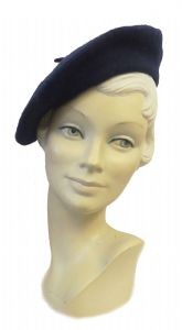 New Navy Blue Classic Vintage 1940's style Beret (1)